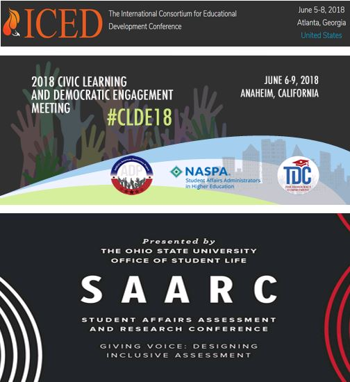Research Presentations at #CLDE18, ICED, and #SAARC2018